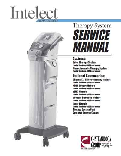 Сервисная инструкция Service manual на Intelect Advanced [Chattanooga]