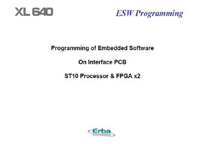 Техническая документация Technical Documentation/Manual на XL 640 Programing of Embedded Software [Erba]