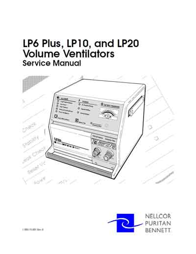 Сервисная инструкция Service manual на LP6 Plus, LP10, LP20 [Nellcor Puritan Bennett]