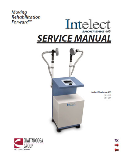 Сервисная инструкция Service manual на Intelect Shortwave 400 [Chattanooga]