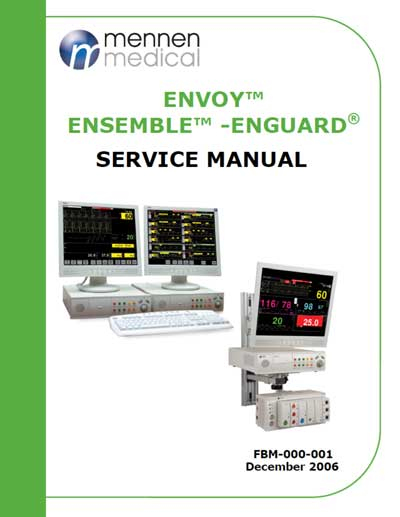 Сервисная инструкция Service manual на Станция Envoy, Ensemble, Enguard [Mennen Medical]