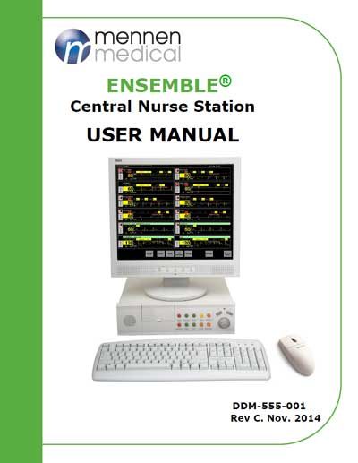 Инструкция пользователя User manual на Станция Ensemble [Mennen Medical]
