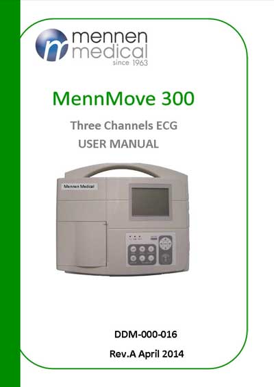 Инструкция пользователя User manual на MennMove -300 [Mennen Medical]