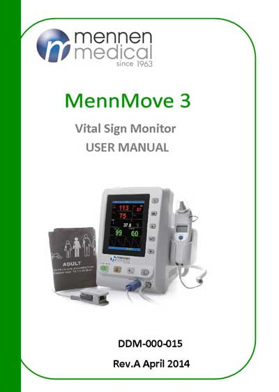 Инструкция пользователя User manual на MennMove3 (Vital Signs Monitor) [Mennen Medical]
