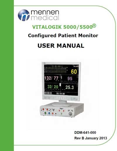 Инструкция пользователя User manual на VitaLogic 5000 / 5500 [Mennen Medical]