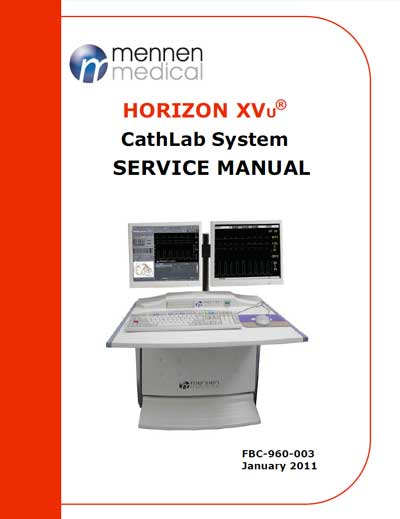 Сервисная инструкция Service manual на Система Horizon XVu [Mennen Medical]