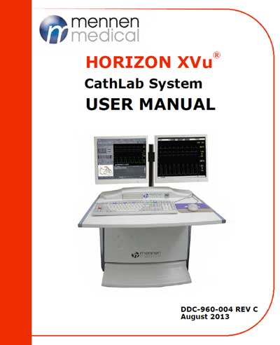 Инструкция пользователя User manual на Система Horizon XVu [Mennen Medical]