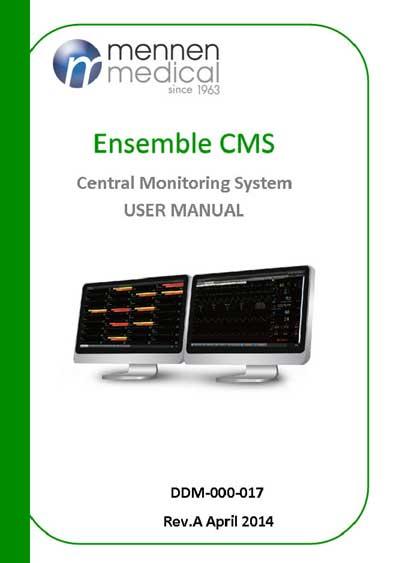 Инструкция пользователя User manual на Станция Ensemble CMS [Mennen Medical]