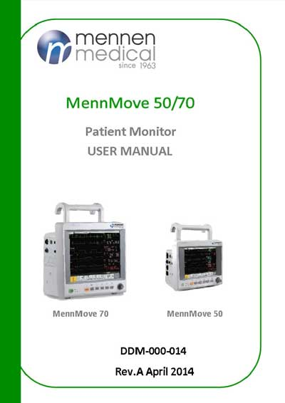 Инструкция пользователя User manual на MennMove 50/70 [Mennen Medical]