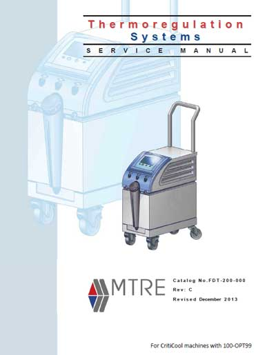 Сервисная инструкция Service manual на Система Thermoregulation [MTRE] [Mennen Medical]