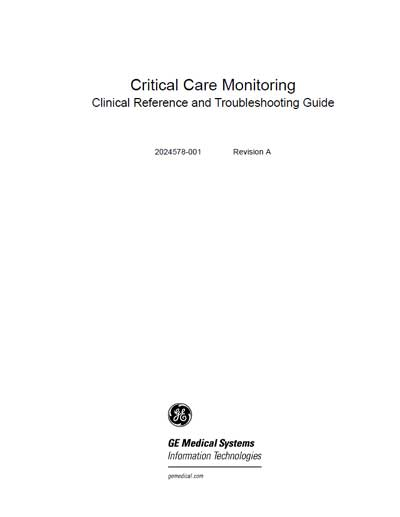Методические материалы, Methodical materials на Мониторы Critical Care Monitoring (Clinical Reference and Troubleshooting Guide)
