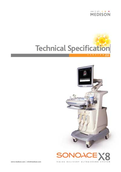 Техническая документация Technical Documentation/Manual на SonoAce X8 Technical Specification [Medison]