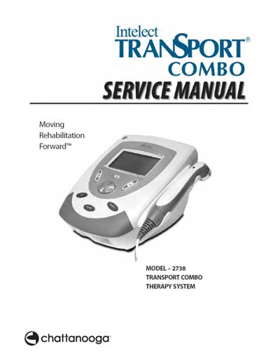Сервисная инструкция Service manual на Intelect TranSport combo (Model – 2738) [Chattanooga]